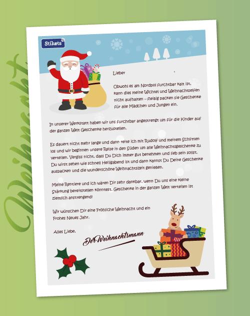 Brief An Den Weihnachtsmann Als Pdf
