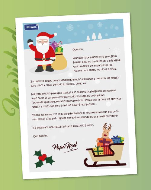 Carta De Papá Noel Stikets