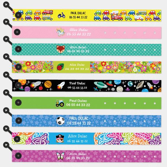 large sélection codes promo grande vente Bracelet Identification Enfant