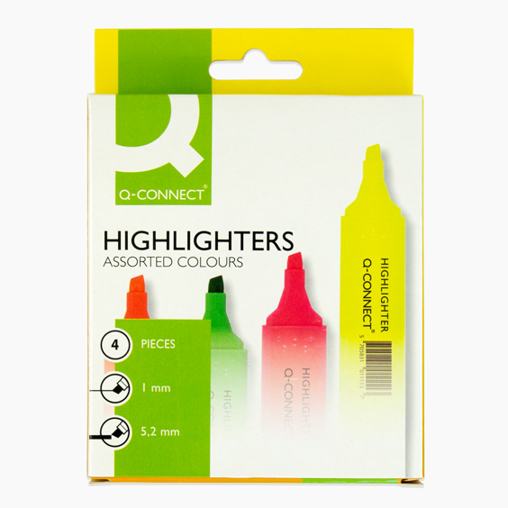 Q-Connect Flourescent Highlighters