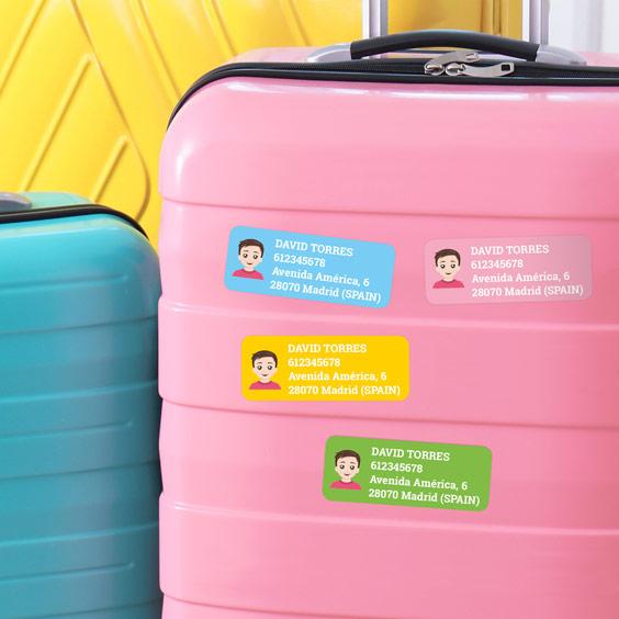 Etiquetes adhesives rectangulars per a maletes