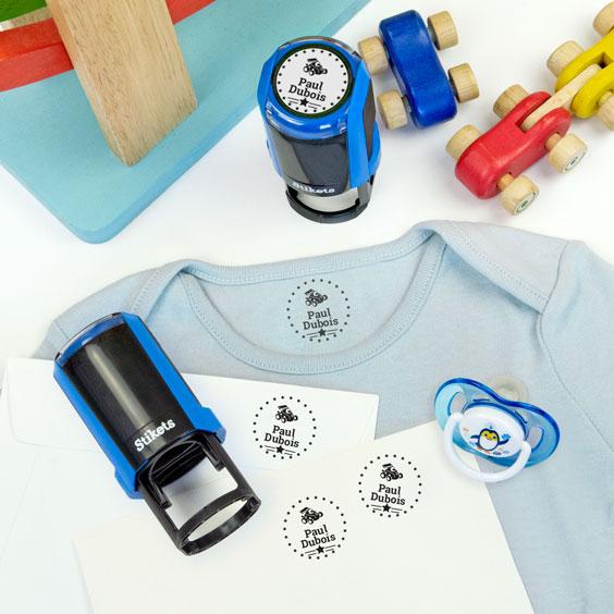 Tampon rond personnalisé pour marquer le linge et les objets
