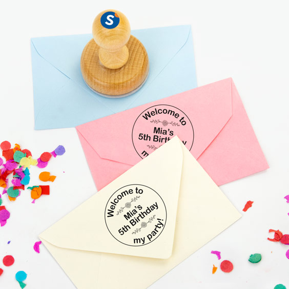 Wooden Round Stamps (4 lines)