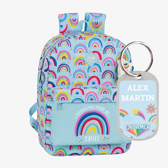 Zaino con doppia cerniera Rainbows Safta