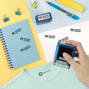 Carimbo personalizado retangular para tecido e objetos