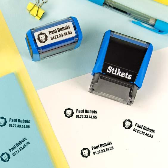Tampon rectangulaire personnalisé pour marquer le linge et les objets