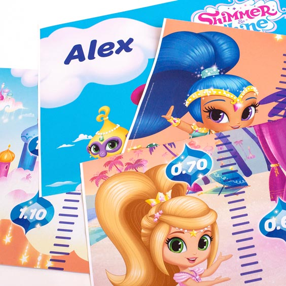 Shimmer and Shine Growth Chart