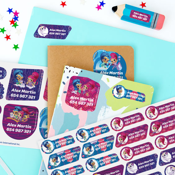 Shimmer and Shine Name Labels