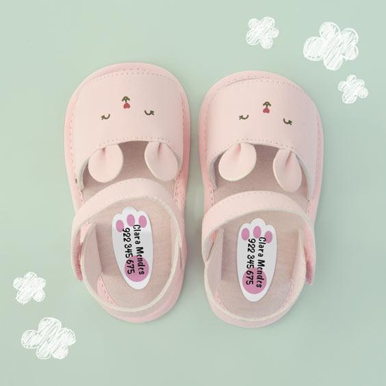 Etiqueta de pegada de animais para sapatos