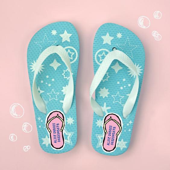 Etiquettes chaussures Tong