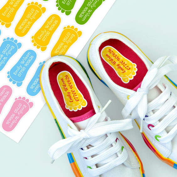 Footprint Shoe Labels