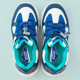 Etiquetas de sapatos desportivos
