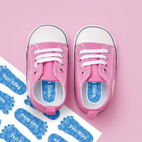 Etiquetas de pés para sapatos