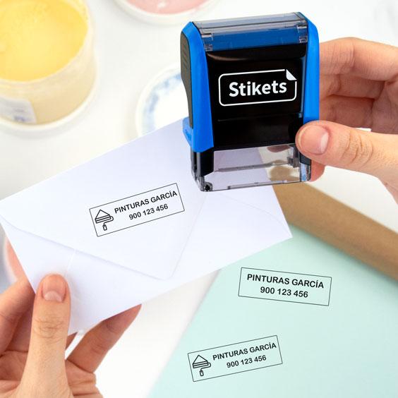 Sello personalizado para empresas pequeño