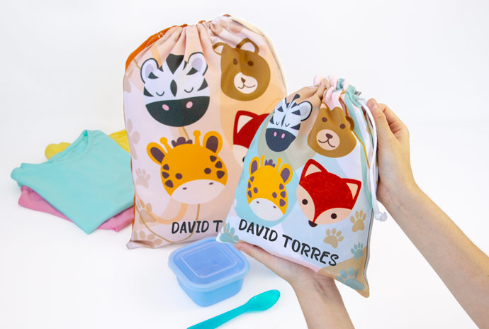 After-School Snack Bags & Change of Clothing Bags Stikets