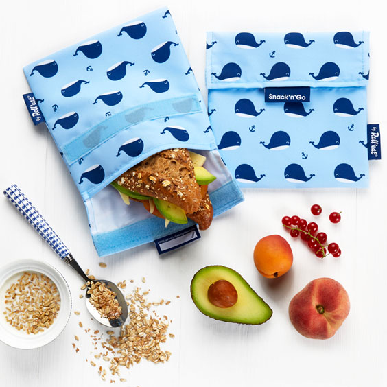 Whale Reusable Snack Bags