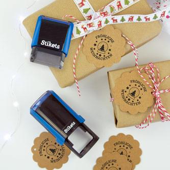 Personalisierte Stempel für Geschenke und Geburtstage
