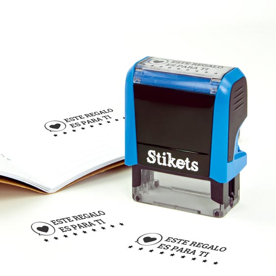 Personalised rectangular stamp for gifts and birthdays