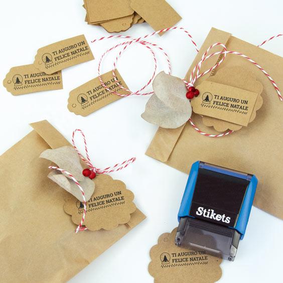 Timbro rettangolare personalizzato per regali e compleanni