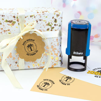 Round Custom Stamp for Gifts and Birthdays