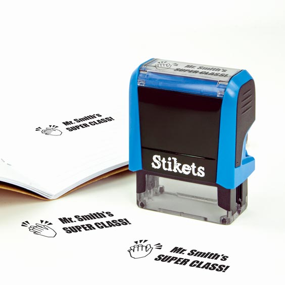 Personalised rectangular stamp for teachers