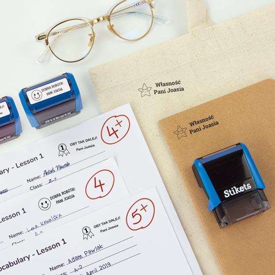 Segell rectangular personalitzat per a professors