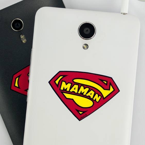 Stickers téléphone bouclier Super Maman