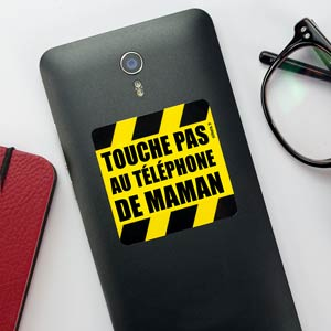 Stickers téléphone Ne pas toucher