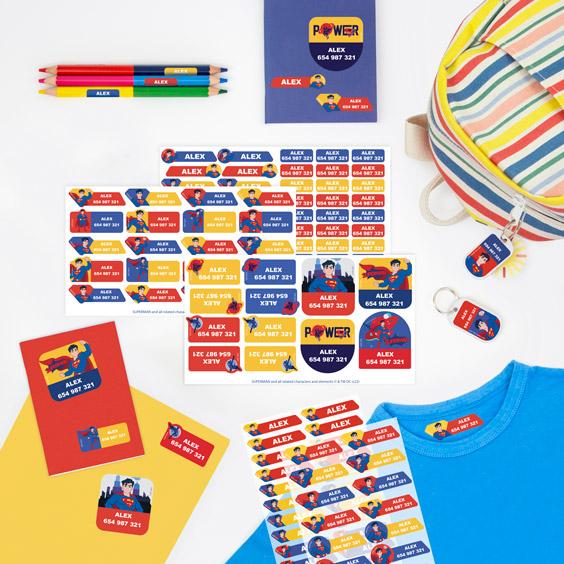 Pack etiquetas Superman