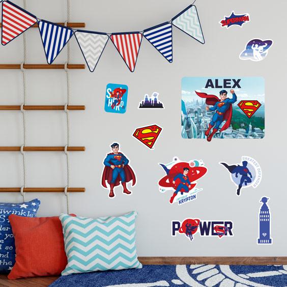 Superman Personalizowane naklejki ścienne