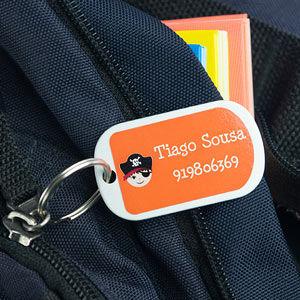 Chapas identificativas bagagem pequenas