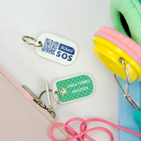 Chapas identificativas pequeñas para maletas