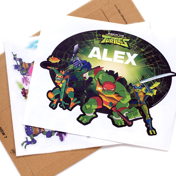 The Ninja Turtles Custom Wall Stickers