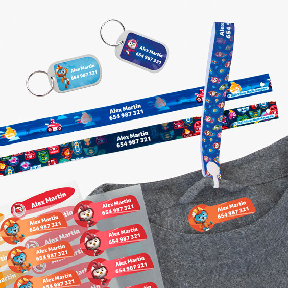 Top Wing Hanging Loops, Iron-On Labels and Tags for Backpacks