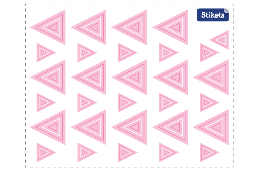 Stickers Triangles rose concentrique