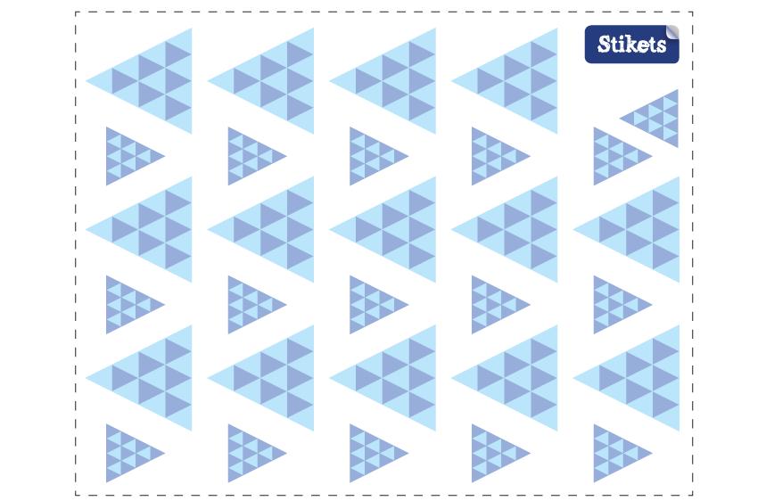 Vinilo de triangulos azules con textura