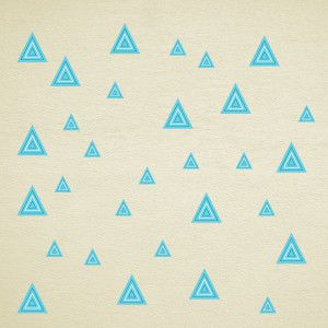 Blue striped triangles wall stickers