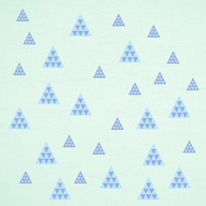 Blue textured triangles wall stickers