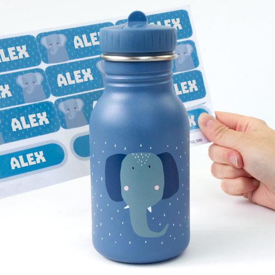 Personalizowana butelka-bidon dla dziecka Mrs. Elephant Trixie