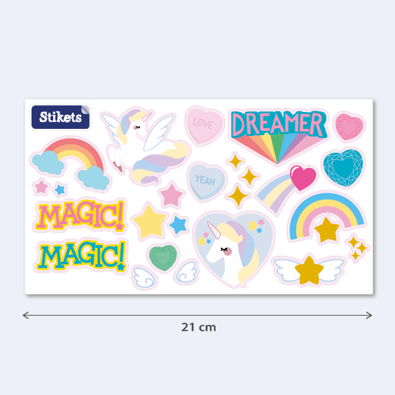 Unicorn and rainbow stickers