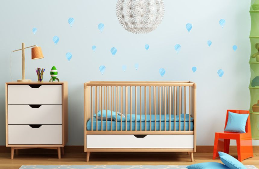 Textured Blue Balloons Wall Decals A