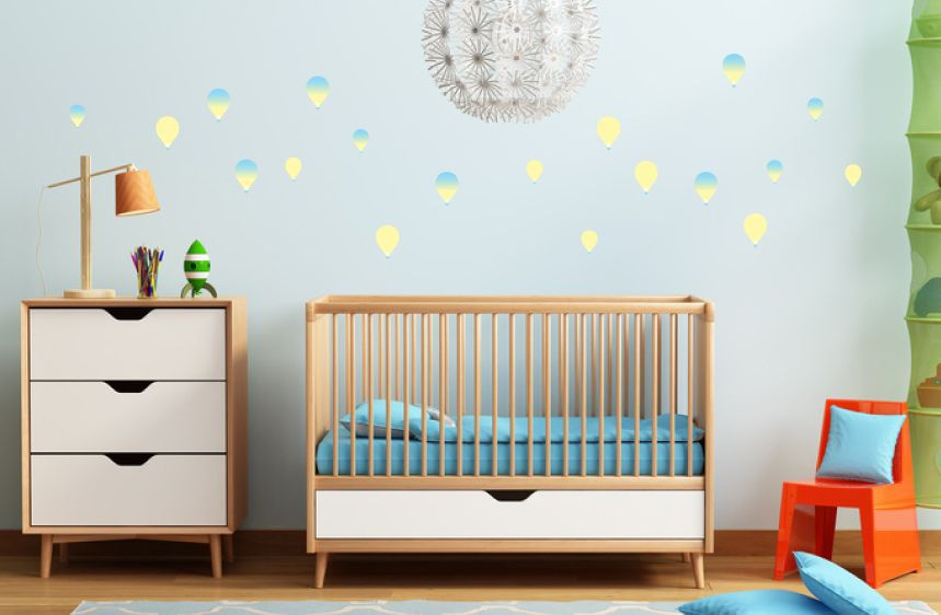 Yellow Shaded Balloons Wall Decals A
