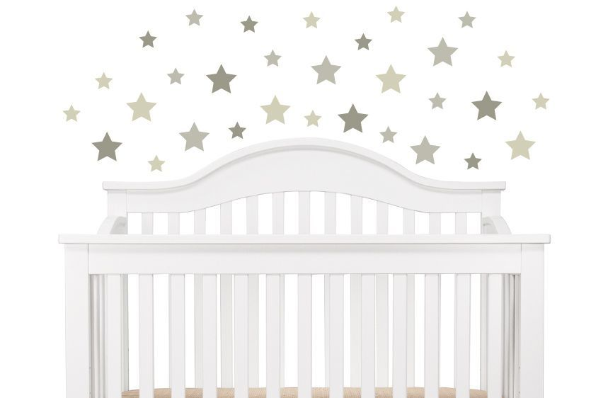 Grey Tone Stars Wall Decals A