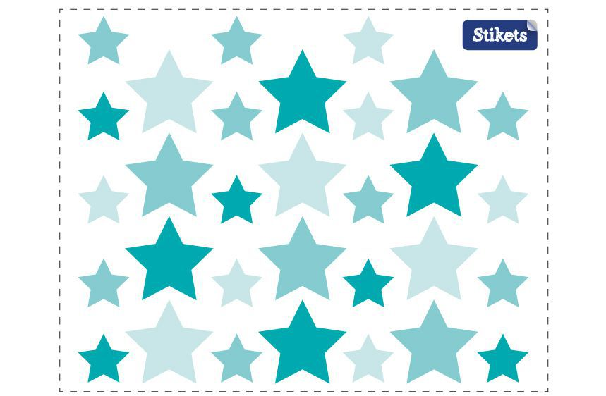 Blue Stars Wall Decals B