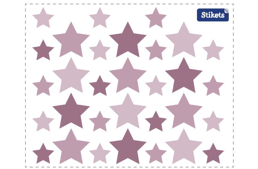 Pink Stars Wall Decals B