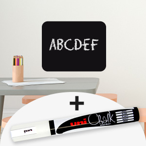 Sticker ardoise rectangle avec marqueur craie