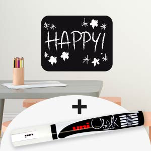 Rectangle blackboard wall sticker with marker