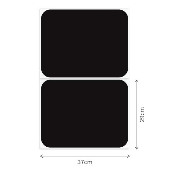 2 Rectangle Chalkboard Decals