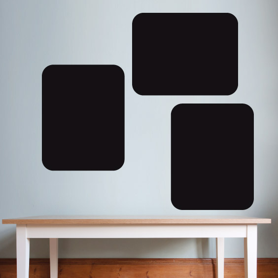 3 Rectangle Chalkboard Decals