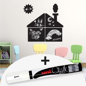 House blackboard wall stickers with marker